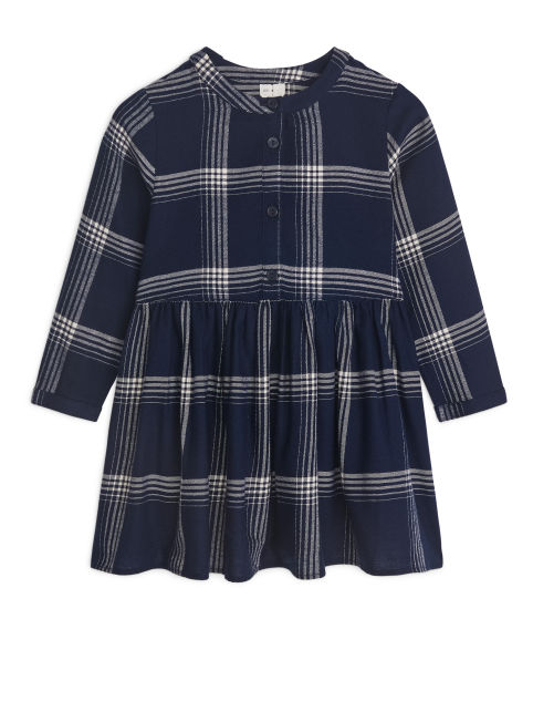 Checked Cotton Flannel Dress