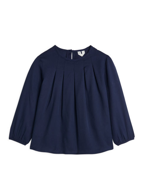 Pleated Lyocell Blouse