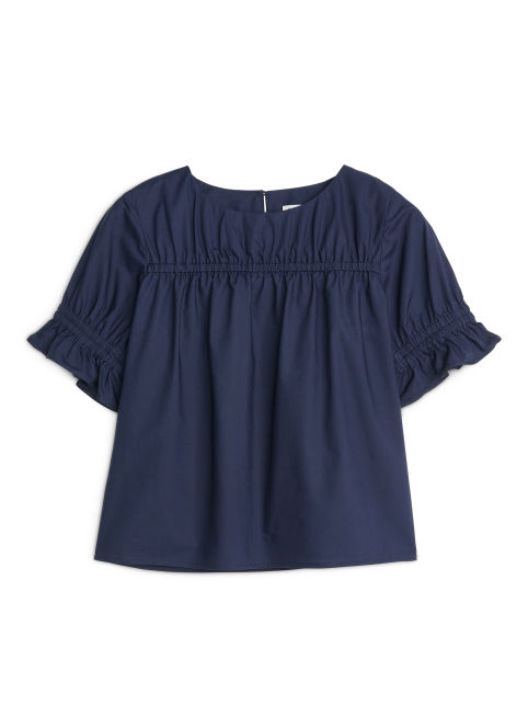 Pima Cotton Poplin Blouse