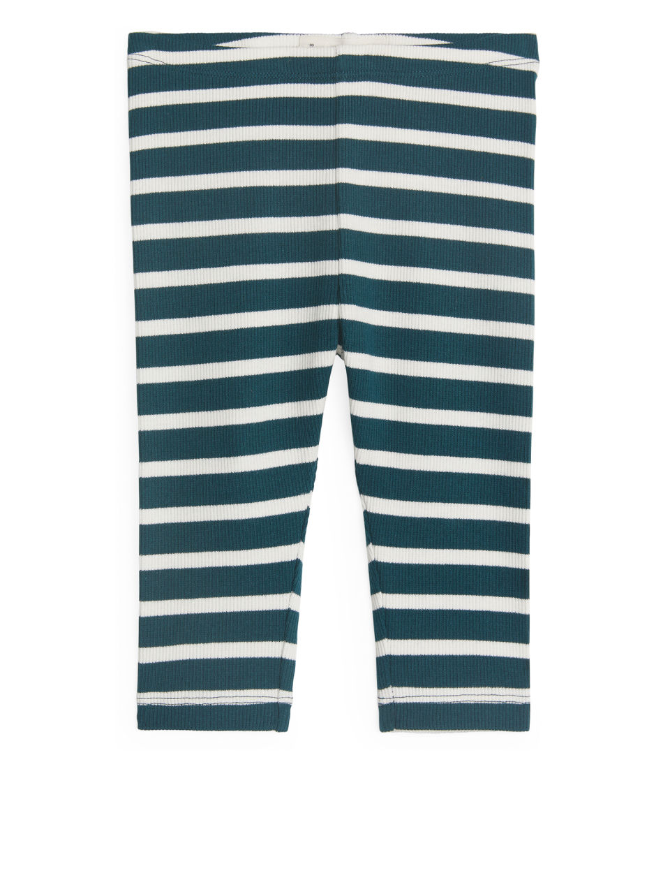 Front image of Arket jersey rib leggings in turquoise