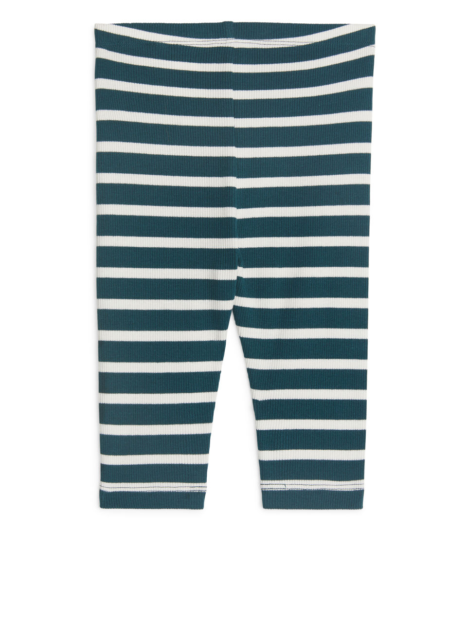 Side image of Arket jersey rib leggings in turquoise