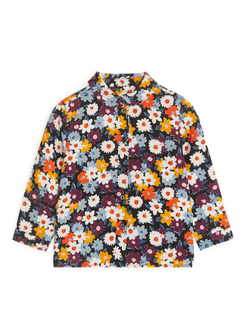 Floral Printed Lyocell Blouse