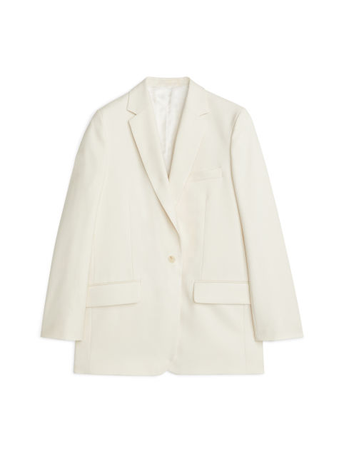 Cotton Wool Twill Blazer
