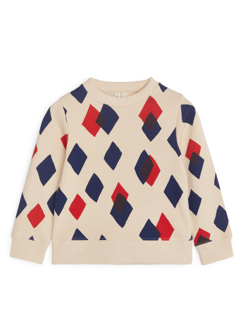 Printed Crew-Neck Sweatshirt