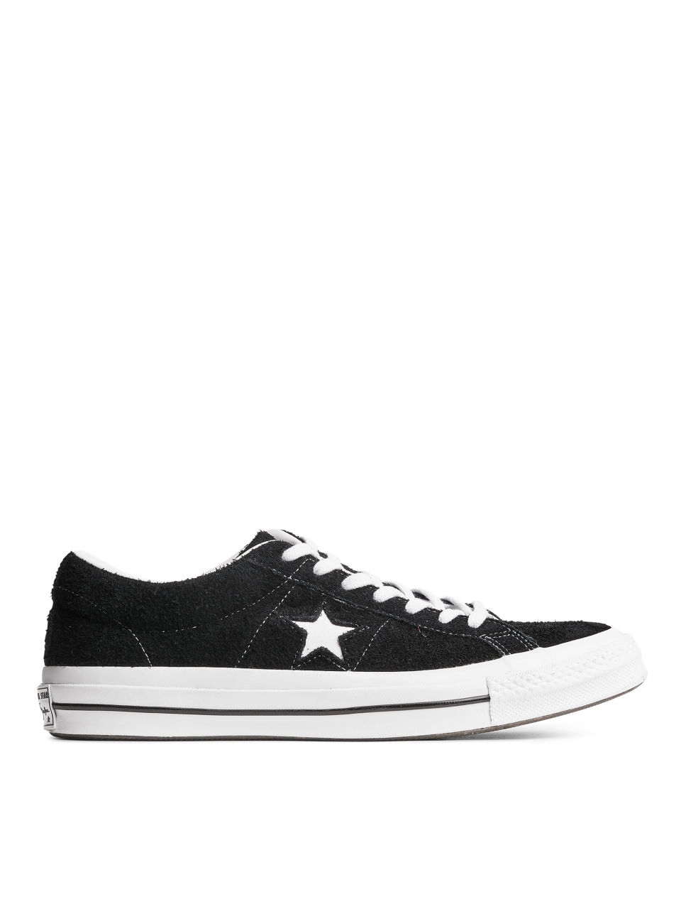 Front image of Arket converse one star low in black