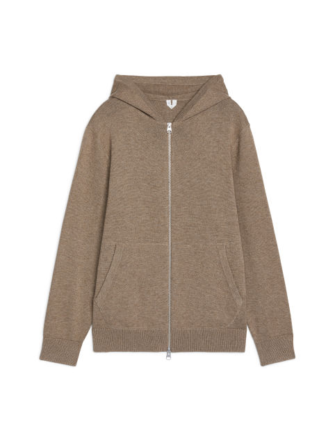 Cotton & Yak Hooded Cardigan