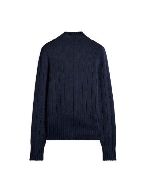 Organic Merino High-Neck Jumper