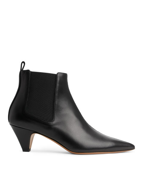 Pointy Leather Chelsea Boots