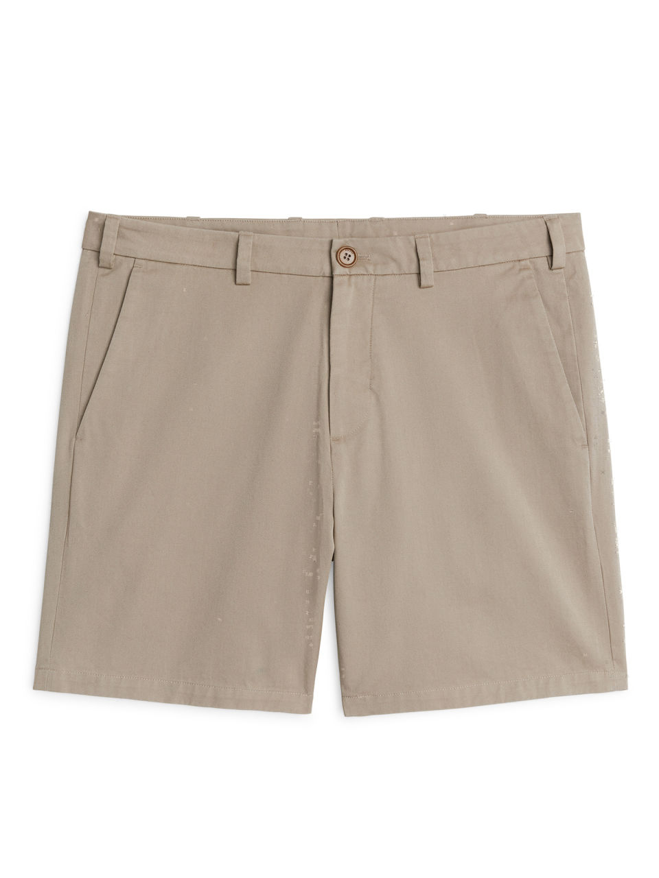 Front image of Arket organic cotton chino shorts in beige