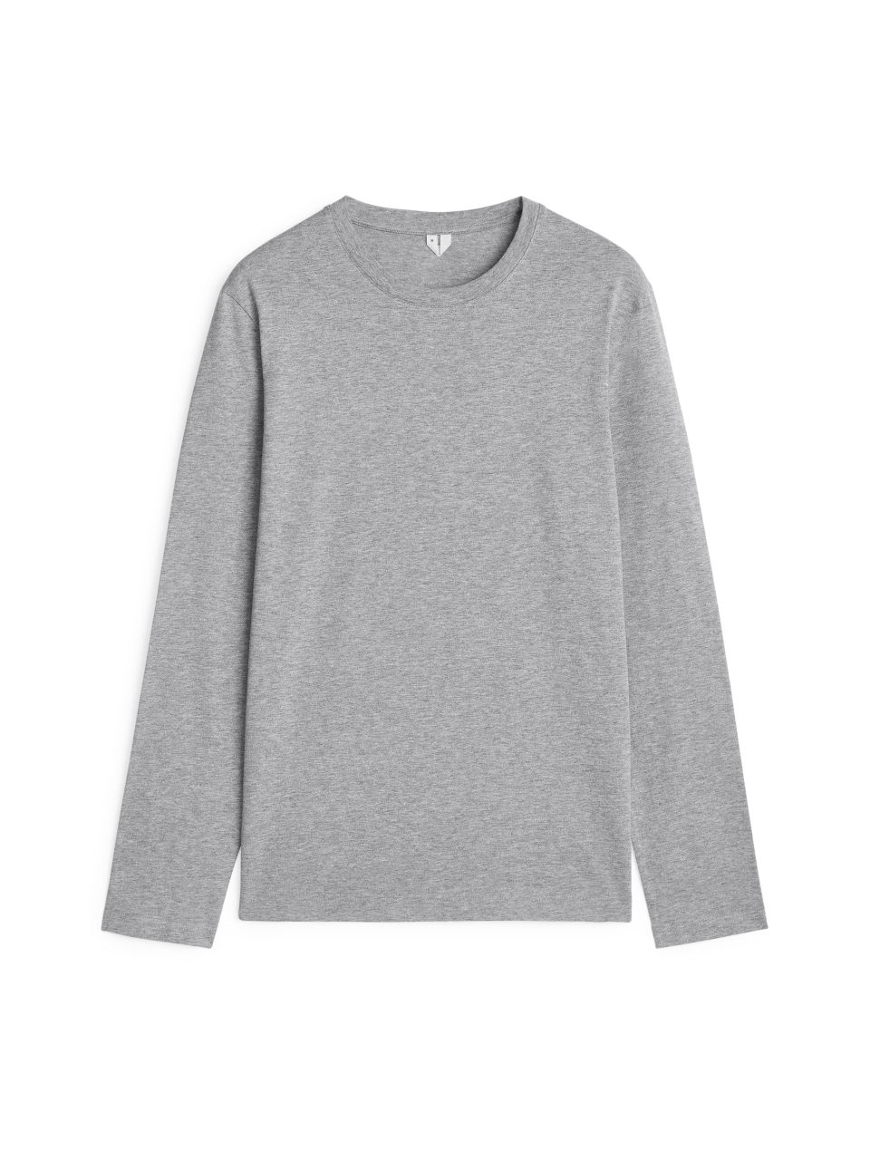 Front image of Arket 170 gsm long sleeve in grey