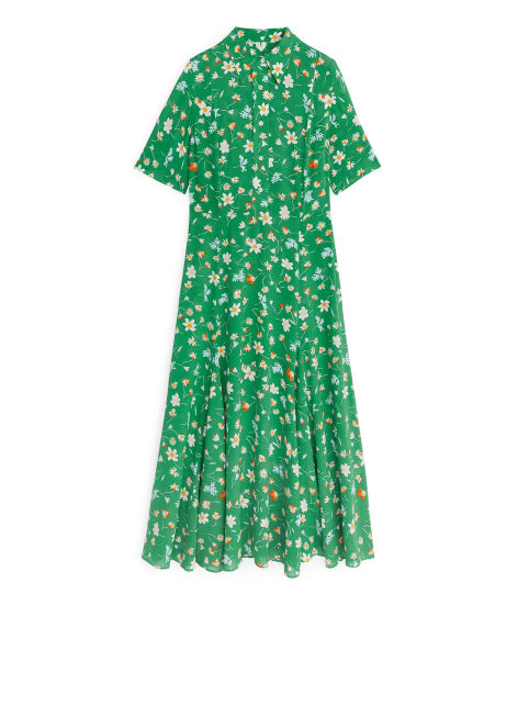 F. Ducharne Floral Crepe Dress