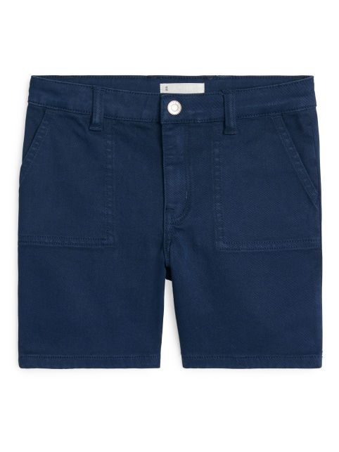 Overdyed Denim Shorts
