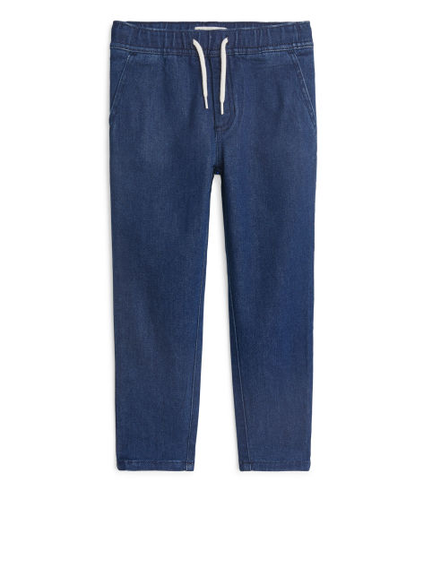 Relaxed Denim Joggers
