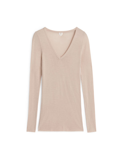 V-Neck Wool Top