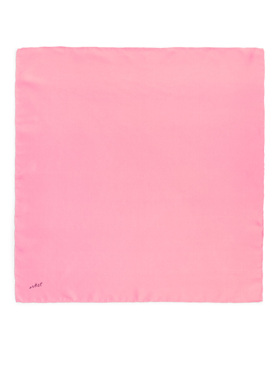 Front image of Arket printed silk scarf in pink