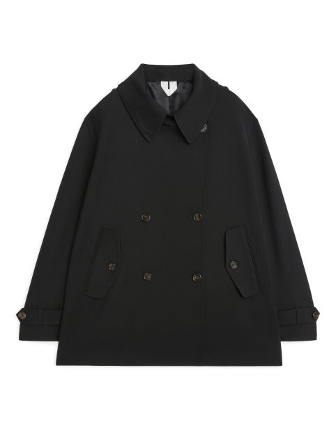 Fluid Wool Pea Coat