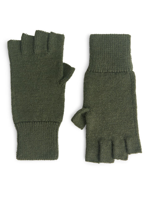 Raw wool Fingerless Gloves