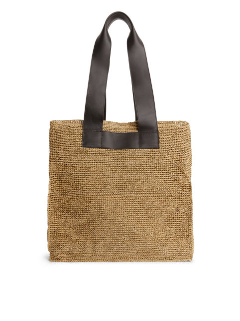 Front image of Arket carry-all tote in beige