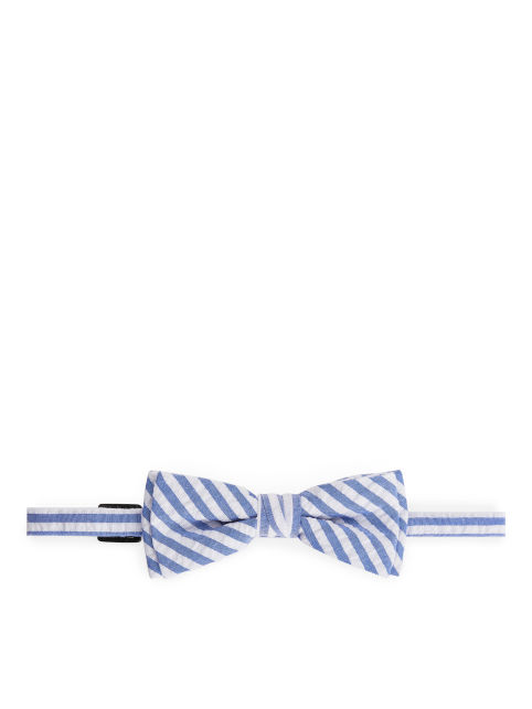Striped Seersucker Bowtie