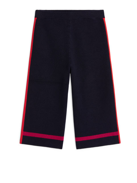 Knitted Colour Block Trousers