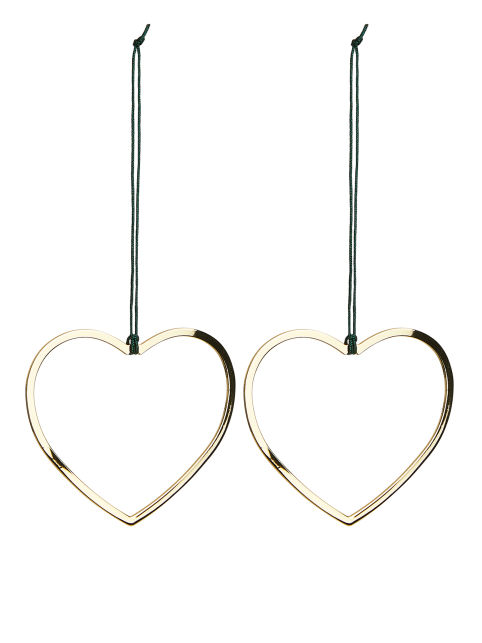 Christmas Brass Decorations, Heart