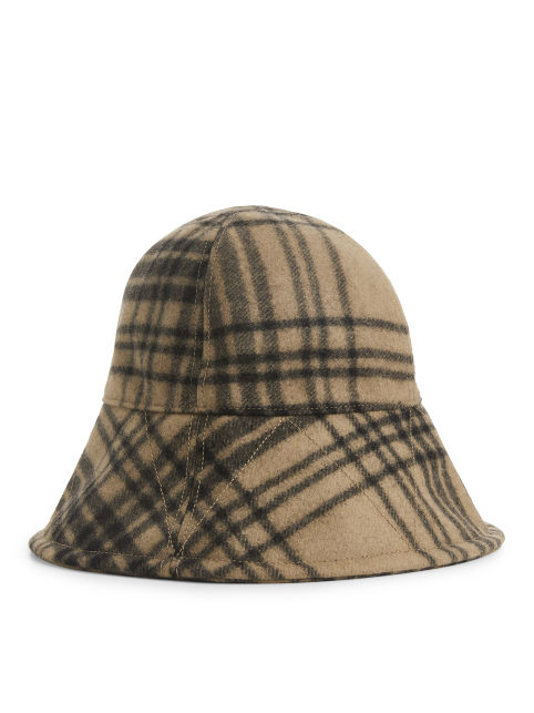 Wool Check Bucket Hat