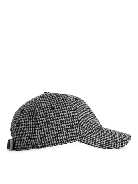 Checked Cotton Cap