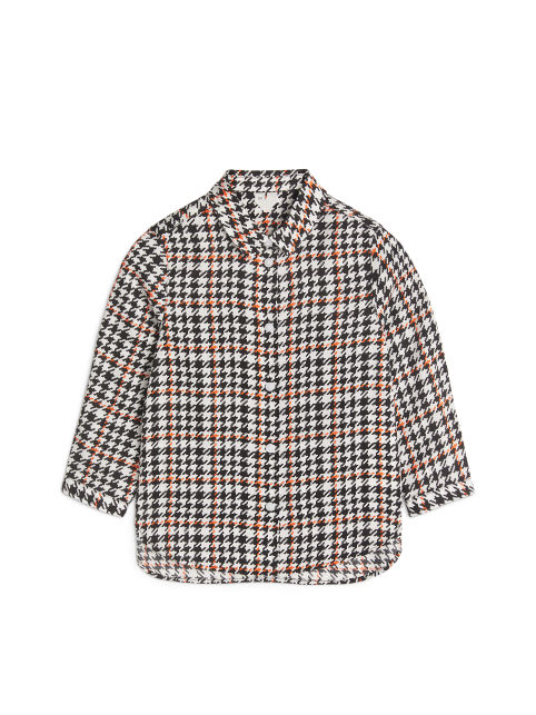 Houndstooth Lyocell Blouse