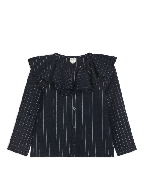Striped Frill Blouse