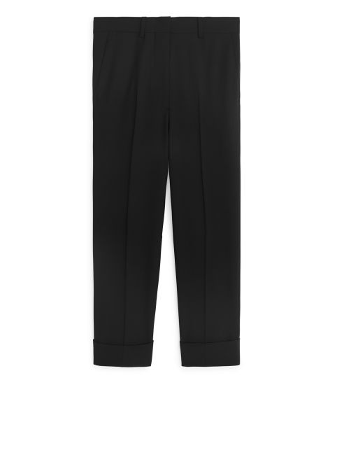 Wool Stretch Crop Trousers