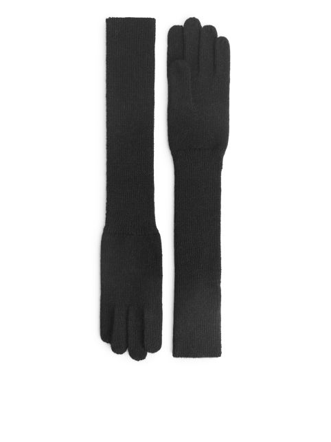 Alpaca Wool Long Gloves