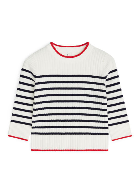 Rib-Knitted Lyocell Jumper