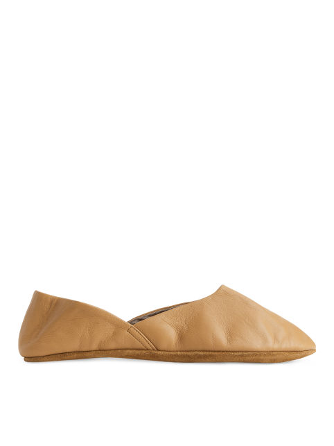 Packable Leather Slippers