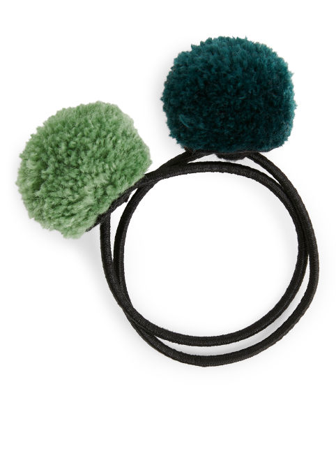 Pom-Pom Hair Elastics, Set of 2