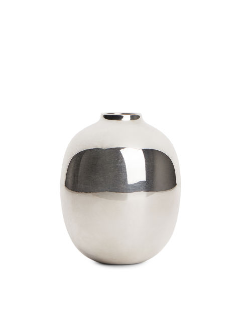 Silver-Plated Brass Vase 9,4 cm