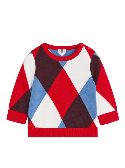 Harlequin Knitted Jumper