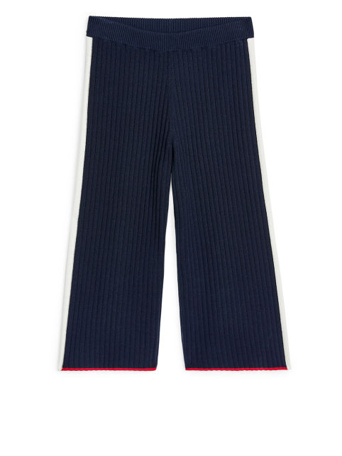 Rib-Knitted Lyocell Trousers