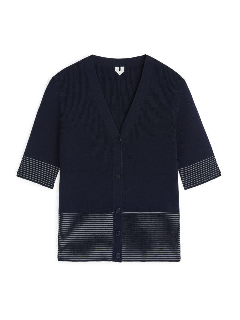 Merino Short-Sleeve Cardigan