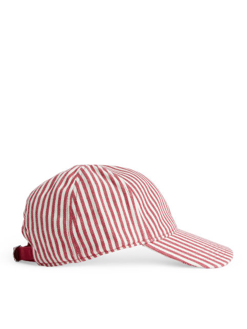 Striped Twill Cap