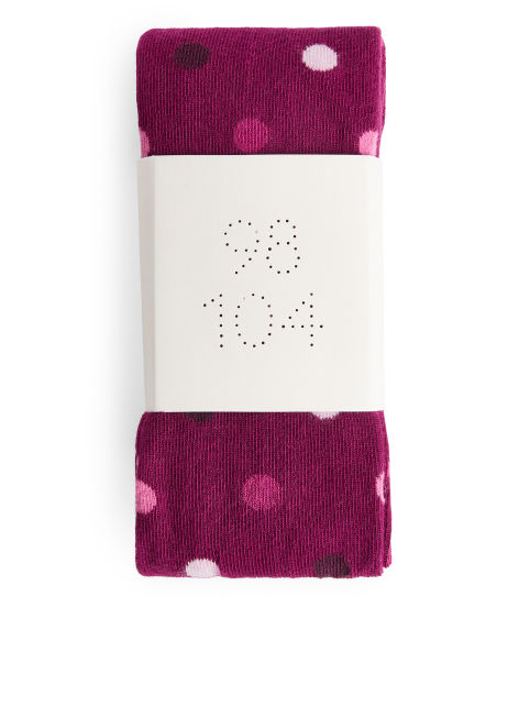 Polka Dot Cotton Tights