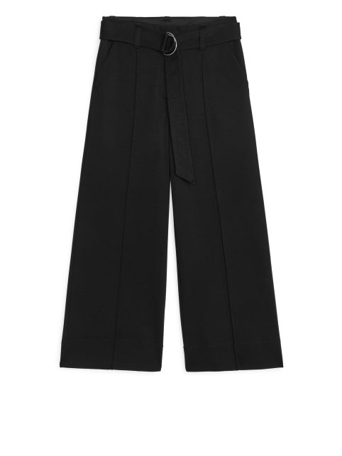 Wide Milano Rib Trousers