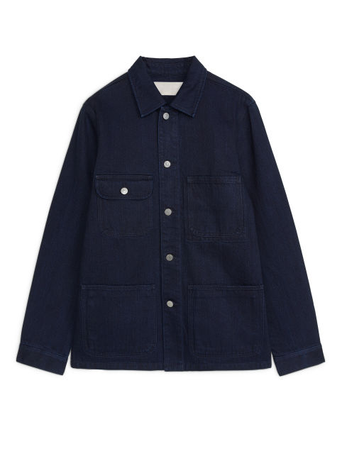 Indigo-on-Indigo Denim Jacket