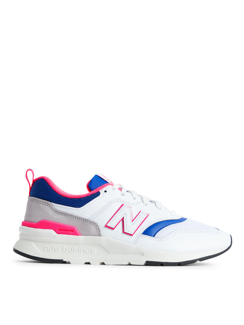 Front image of Arket new balance 997 in white