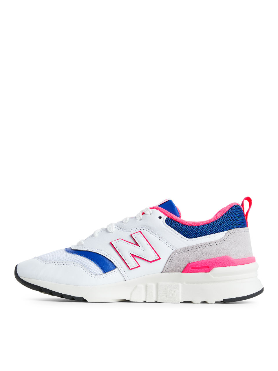Side image of Arket new balance 997 in white