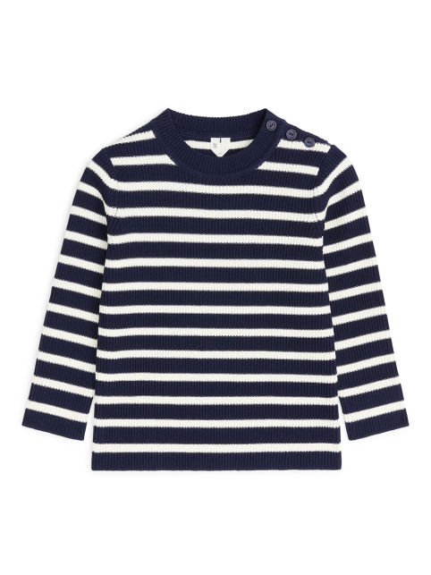 Striped Buttoned Jumper