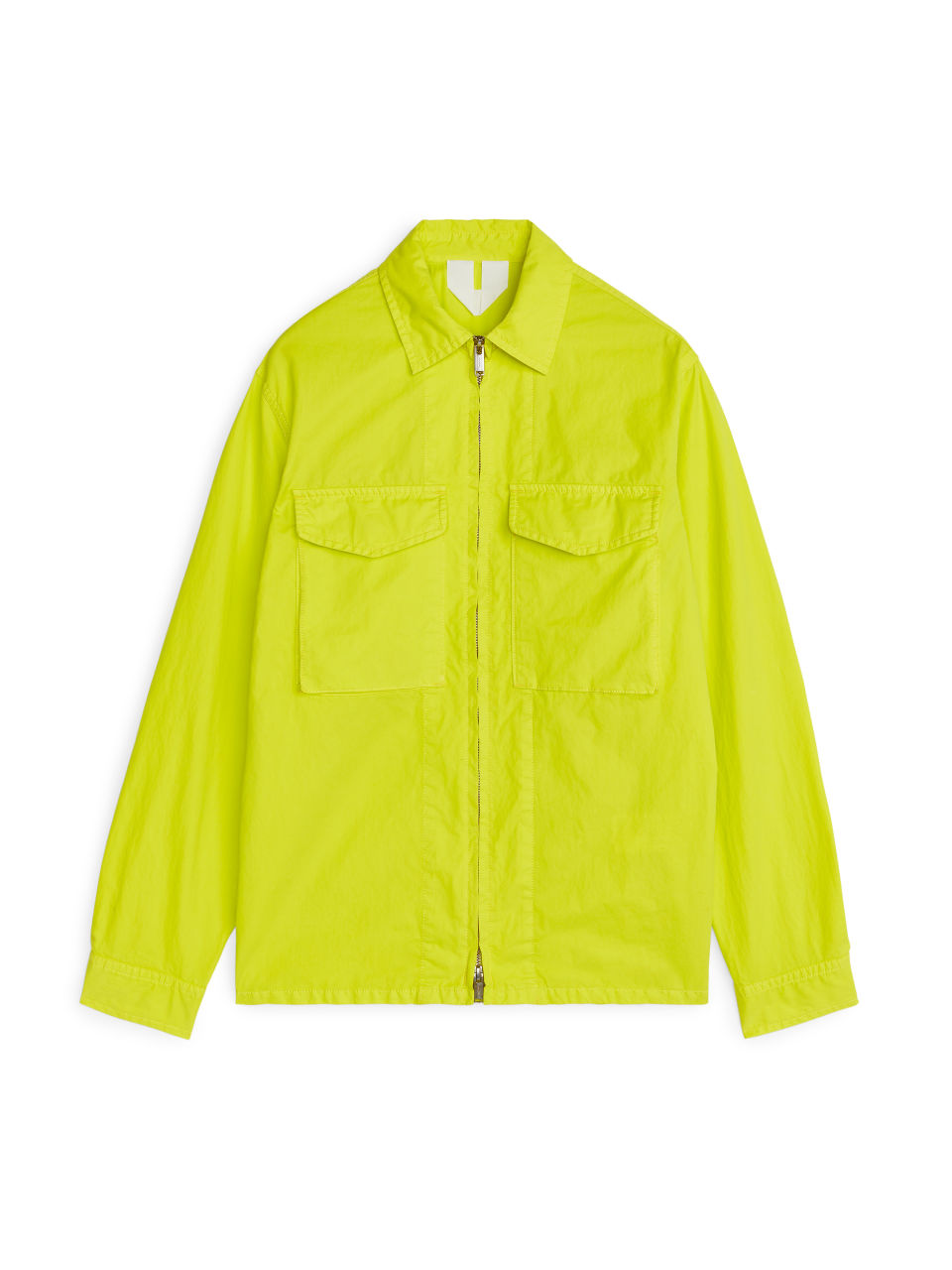 Front image of Arket high-density overshirt in yellow
