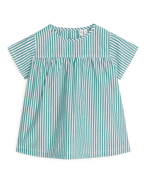Striped Poplin Dress