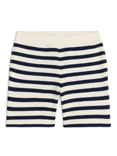 Striped Terry Shorts