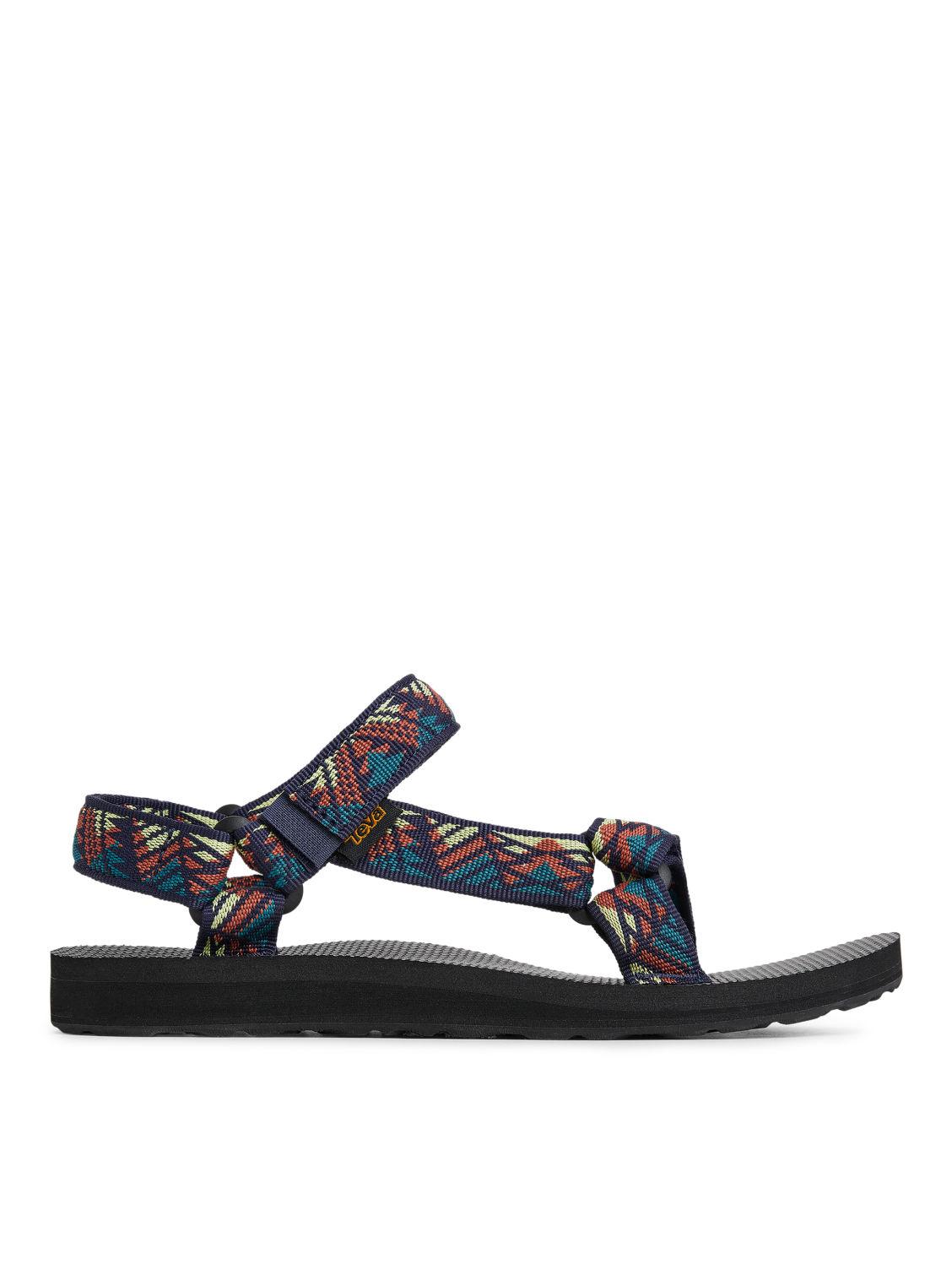 Teva Original Universal Sandals Blue Pattern Shoes ARKET