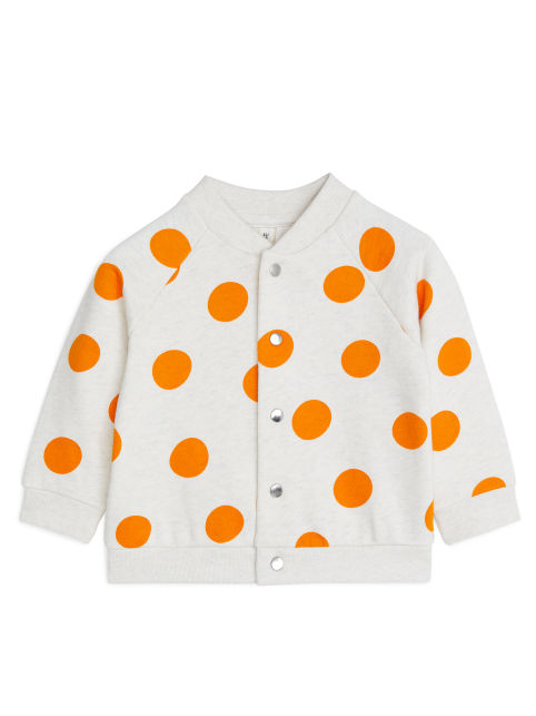 Polka Dot Sweatshirt Jacket